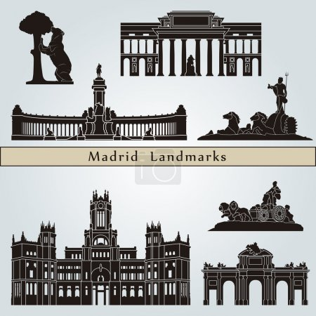Madrid landmarks and monuments