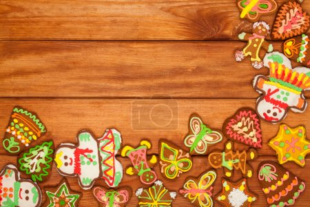 Gingerbread, Christmas cookies, background
