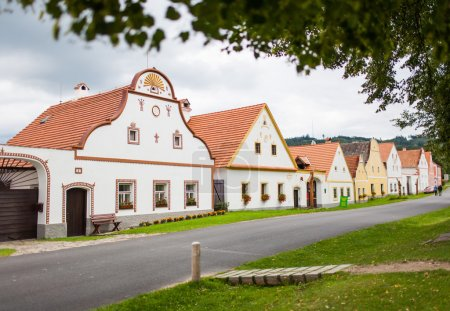 Village Holasovice, Czech Republic. Buildings in the baroque style. UNESCO World Heritage Site.