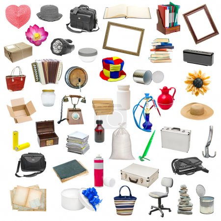 simple collage of isolated objects