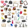 Simple collage of isolated objects on white backgr...