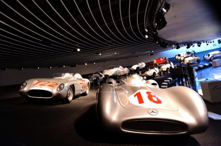 Mercedes Museum in Stuttgart, Germany