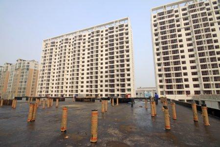 chantier de construction, bâtiments neufs