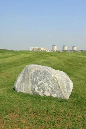 rock at golf course