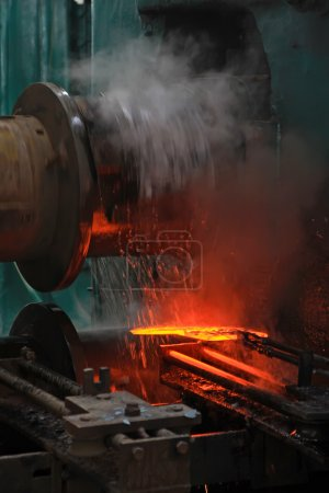 Welding production scene in a factory...
