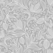 Abstract floral pattern Seamless pattern with flowers and butterfly Floral background