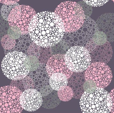 Illustration for Abstract seamless polka dot circles pattern - Royalty Free Image