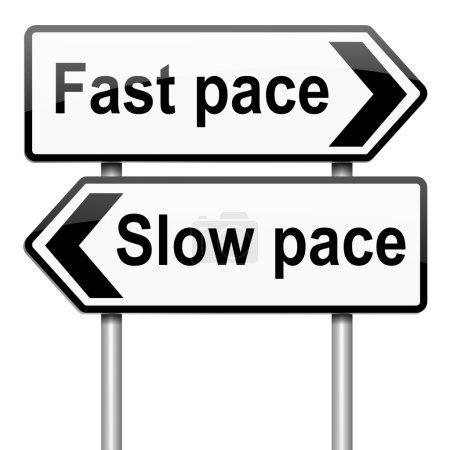 Photo pour Illustration représentant un roadsign avec un mode de vie rythme concept. fond blanc. - image libre de droit