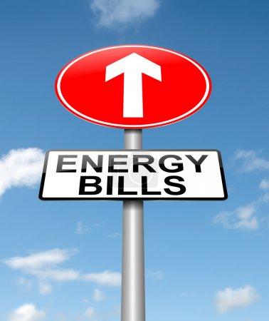 Energy bills concept.