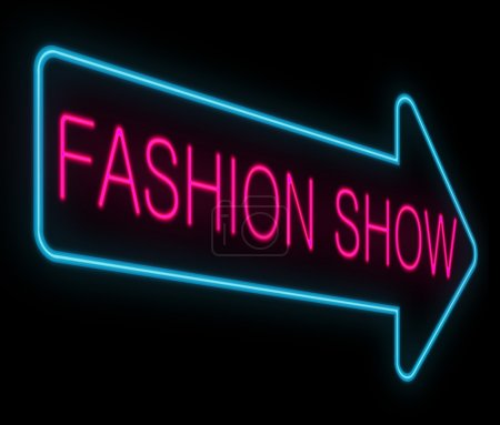 Photo for Illustration depicting a neon signage with a fashion show concept. - Royalty Free Image