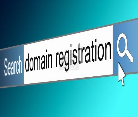 Domain registration concept.