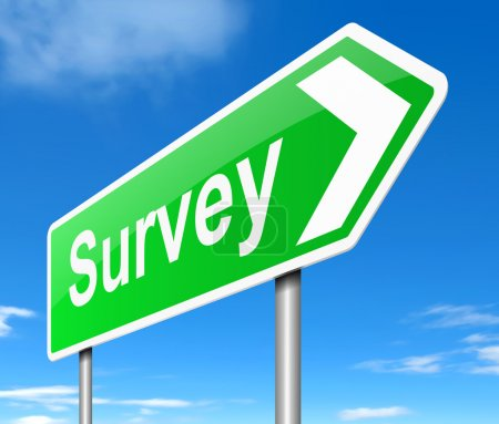 Photo for Illustration depicting a sign with a survey concept. - Royalty Free Image
