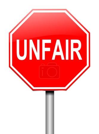 Photo pour Illustration représentant un signe avec un concept injuste. - image libre de droit
