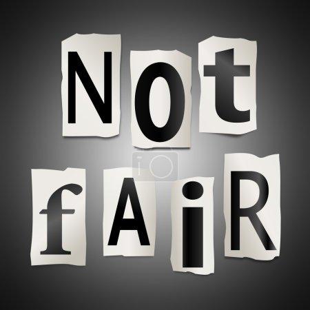 Photo pour Illustration représentant un ensemble de découpe de lettres formées d'arranger les mots pas justes. - image libre de droit