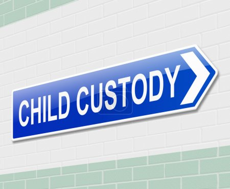 Photo for Illustration depicting a sign directing to child custody. - Royalty Free Image