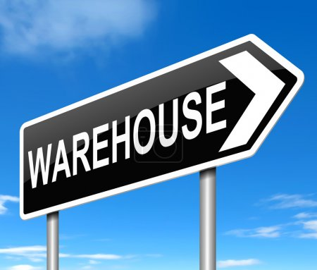Warehouse sign.