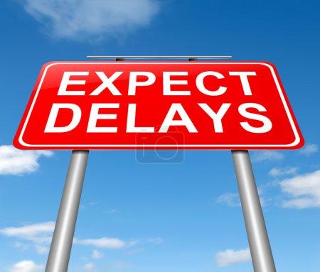 Photo pour Illustration représentant un signe avec un concept de retard. - image libre de droit