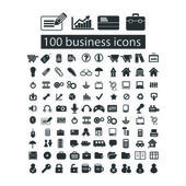 100 business management icons set vector