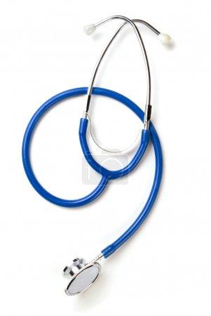 Photo for Medical stethoscope on white background - Royalty Free Image