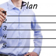 Young business man of action plan...