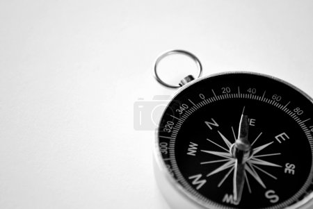 Magnetic handheld compass with copyspace