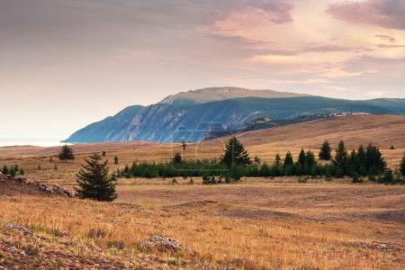 Landscape of cape Khoboy Baikal