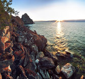 Rocky coast at Lake Baikal, Shamanka