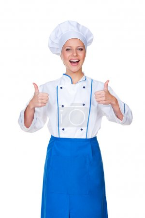 Glad chef showing thumbs up