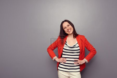 laughing girl have a good mood