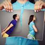 Woman lacerating photo