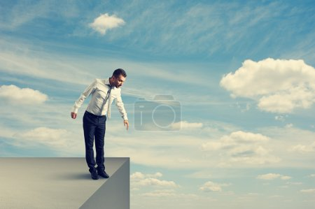 Man standing over the precipice
