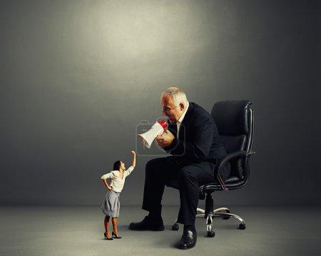 conflict between businesswoman and businessman