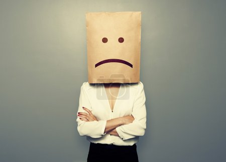 Photo for Businesswoman have a bad mood - Royalty Free Image