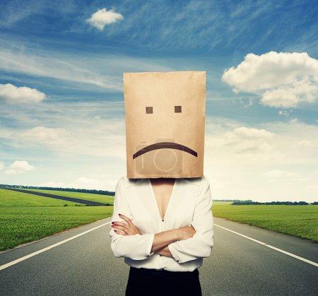 Photo pour Femme d'affaires ont une mauvaise humeur - image libre de droit