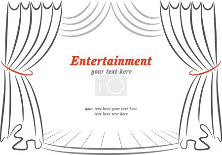 Illustration for Entertainment poster - Royalty Free Image