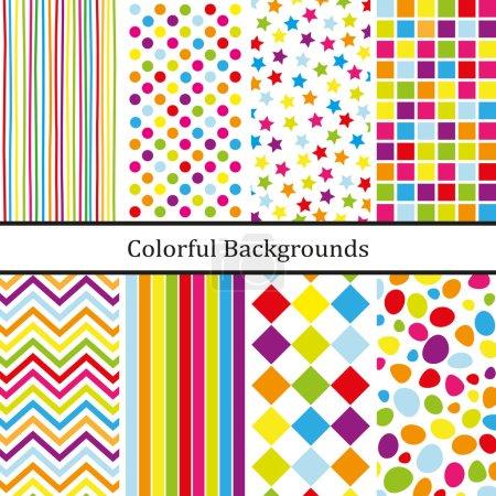 Illustration pour Arrière-plans colorés pour partie - image libre de droit