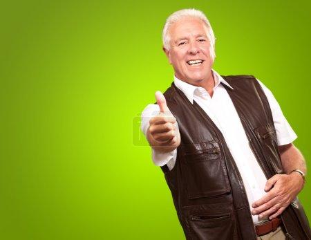 A Senior Man Showing Thumb