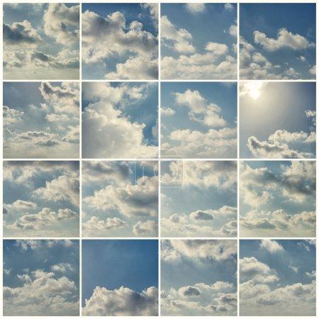 Photo pour Ensemble De Ciel Bleu Avec Nuages - image libre de droit