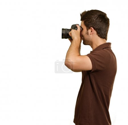Portrait Of Young Man Capturing Photo