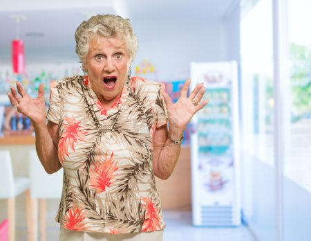 Portrait Of Shocked Senior Woman