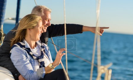 Photo for Happy Mature Couple Looking At Vie - Royalty Free Image