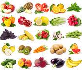 Friss gyümölcs és zöldség gyűjteménye