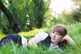 Jedna žena relaxační venkovní