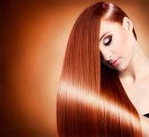 Beautiful girl with healthy long hair