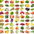 Collection of fresh fruits and vegetables isolated...