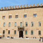 Mantua, Italy - June 15, 2013: Palazzo Castiglioni...