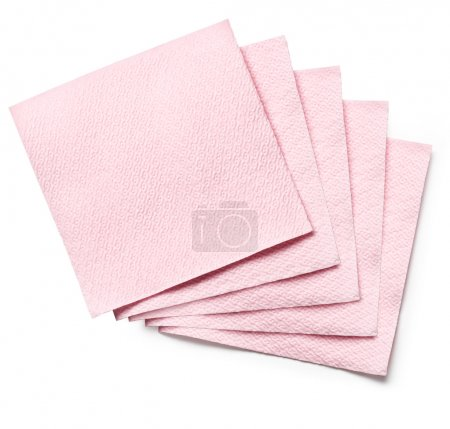 Photo for Pink Paper Napkin on white background - Royalty Free Image