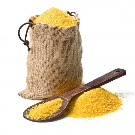 Bag of ground corn