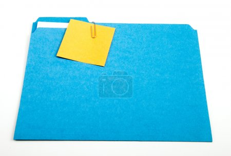 Sticky Note on File Folder