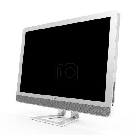 Photo pour Moderne tout en un ordinateur isolé sur fond blanc - image libre de droit